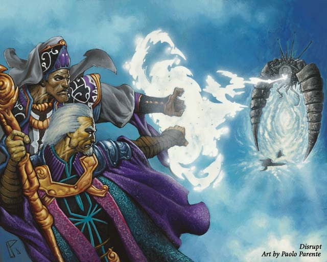 Disrupt MTG card art by Paolo Parente