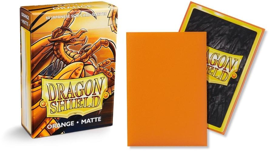 Dragon Shield orange matte sleeves