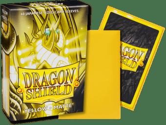 Dragon Shield yellow matte sleeves