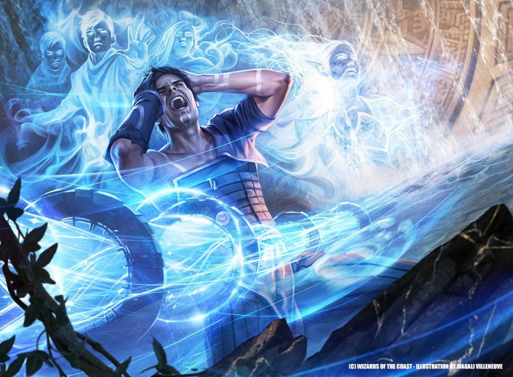 Flood of Recollection MTG card art by Magali Villeneuve
