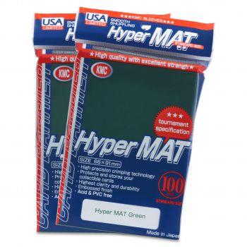 KMC green hyper matte sleeves
