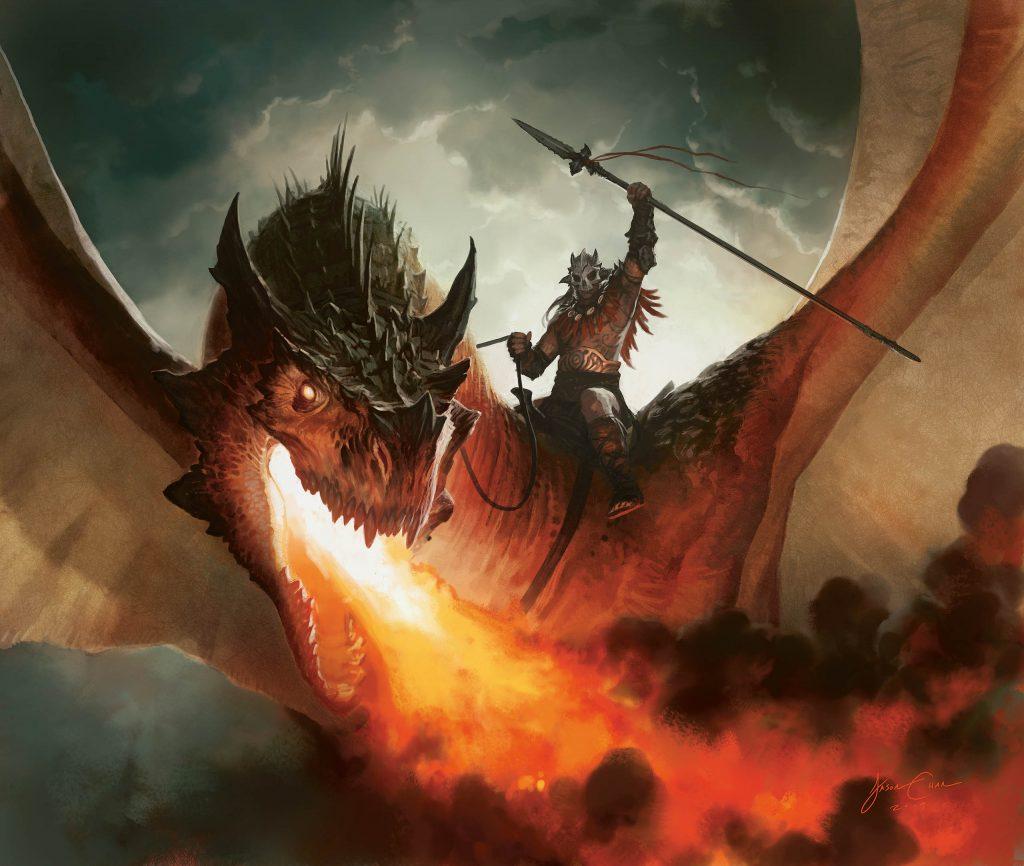 Kargan Dragonlord MTG card art by Jason Chan