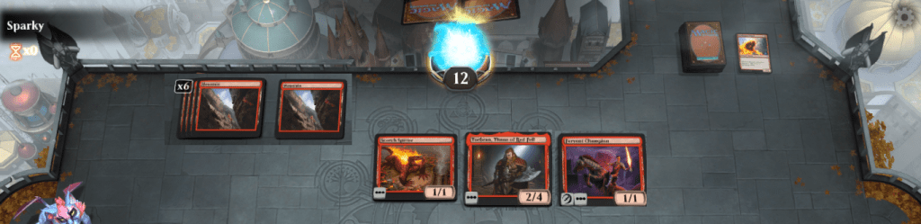 MTG Arena opponent board state example