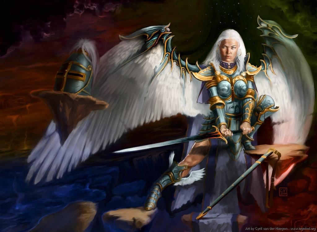 Maelstron Archangel - Illustration by Cyril Van Der Haegen