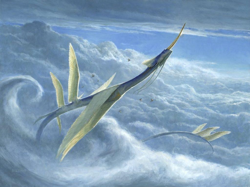Yorion, Sky Nomad MTG card art by Steven Belledin