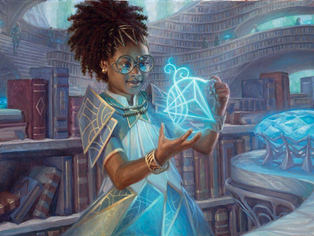 Zimone, Quandrix Prodigy - Illustration by Ryan Pancoast
