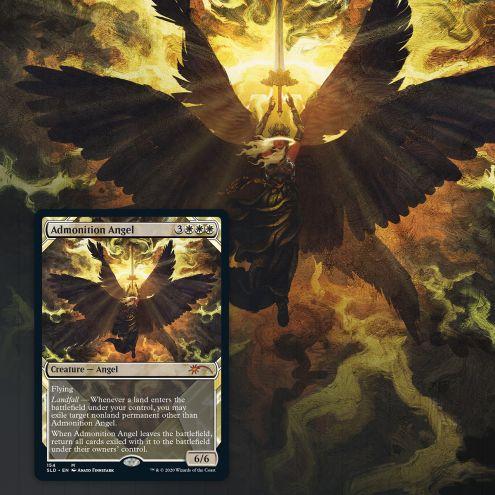 Showcase: Zendikar Revisited card Admonition Angel