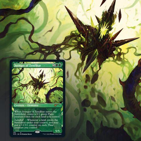Showcase: Zendikar Revisited card Avenger of Zendikar