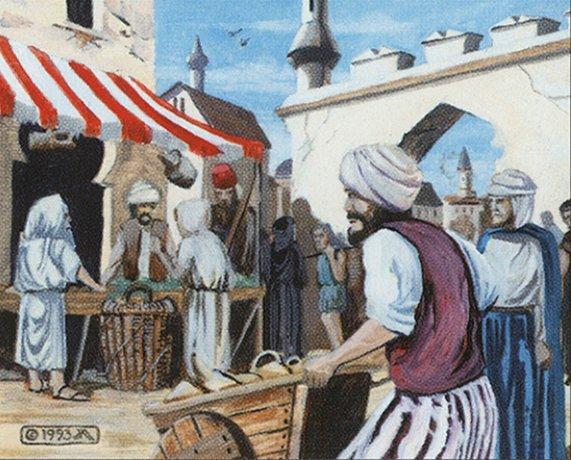Bazaar of Baghdad - Illustration by Christopher Moeller
