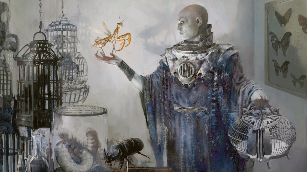 Delver of Secrets MTG card art by Nils Hamm