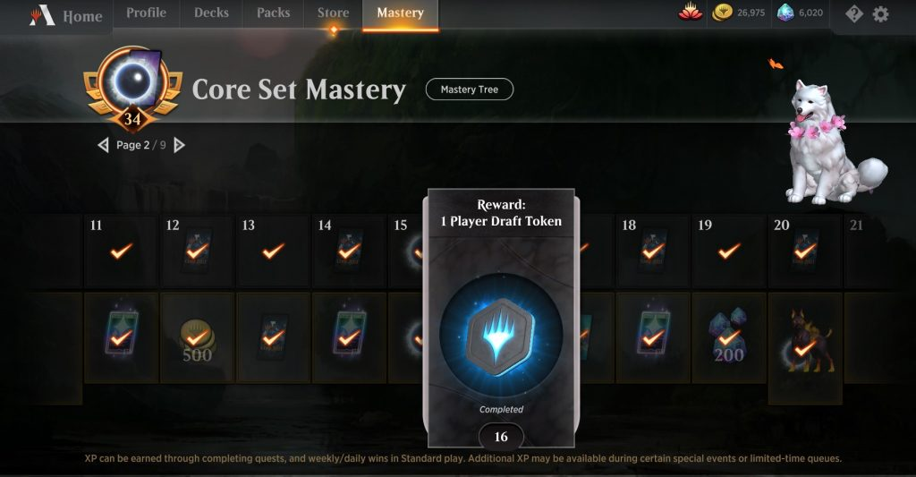Mastery Pass draft token