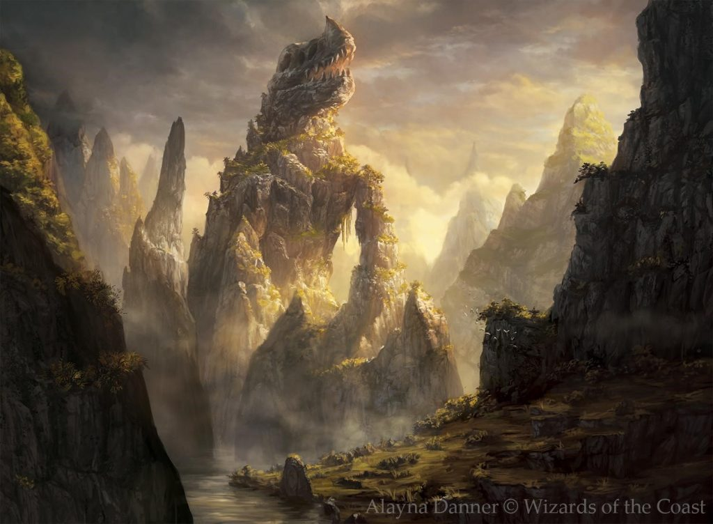 Dragonskull Summit MTG card art by Alayna Danner