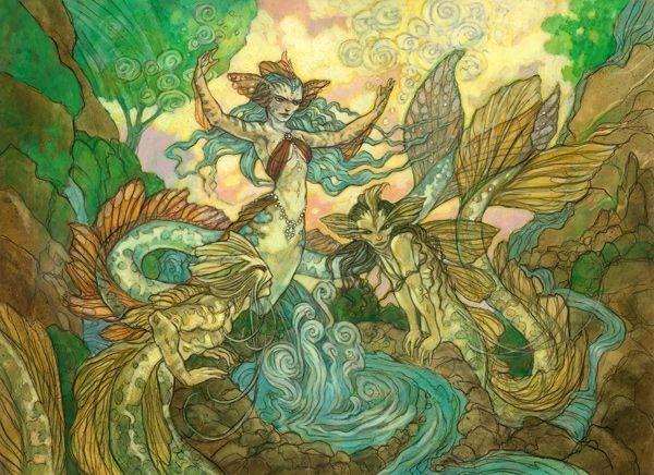 Drowner of Secrets MTG card art by Rebecca Guay