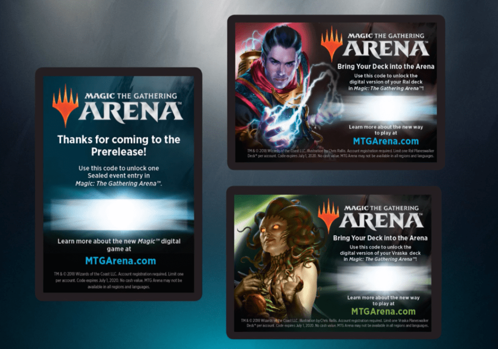 MTG Arena code cards