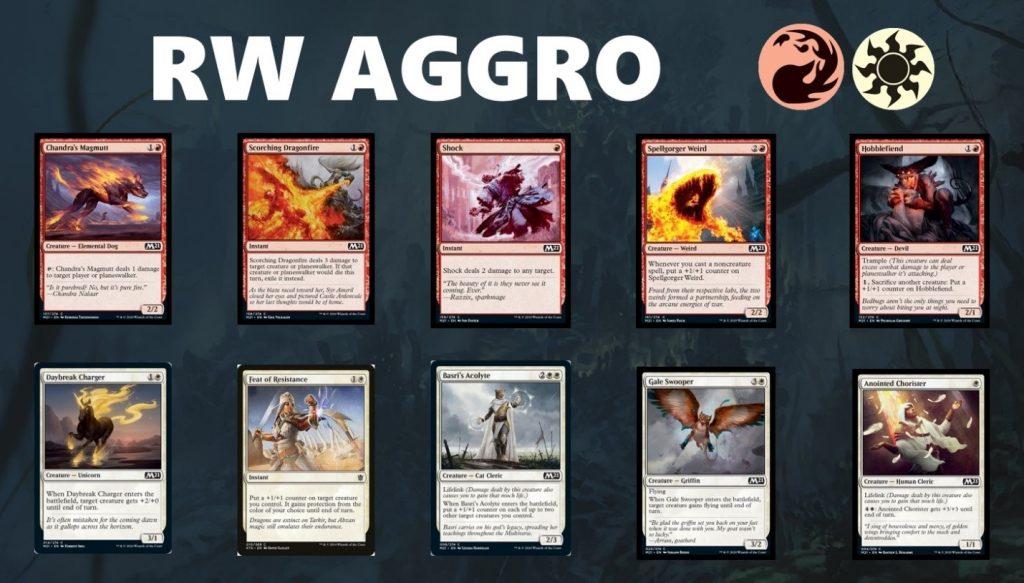 RW aggro cards