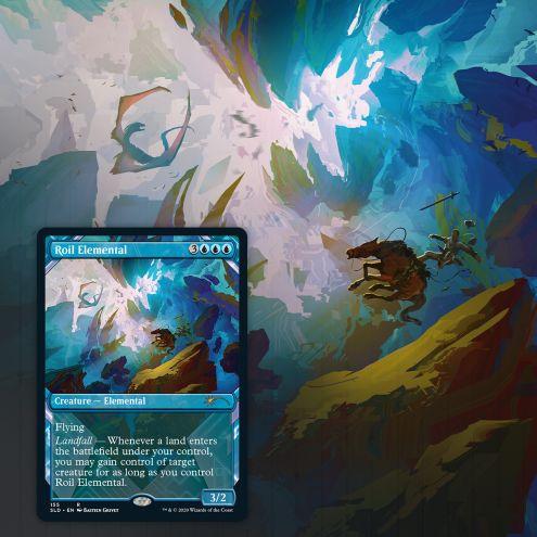 Showcase: Zendikar Revisited card Roil Elemental