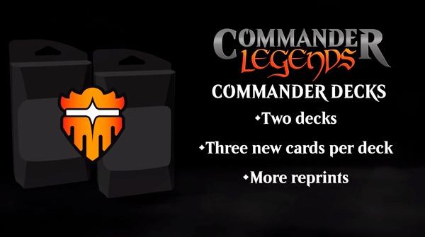 Commander Legends decks info graphic