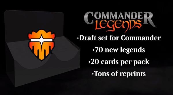 Commander Legends set info graphic