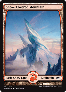 Modern Horizons Snow-Covered Mountain