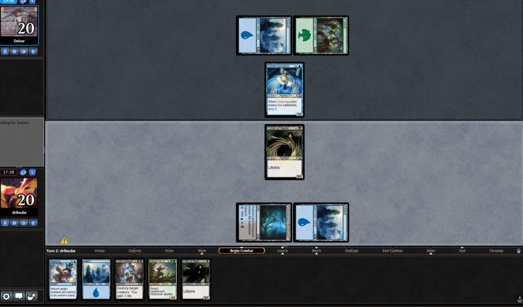 a screenshot of magic online
