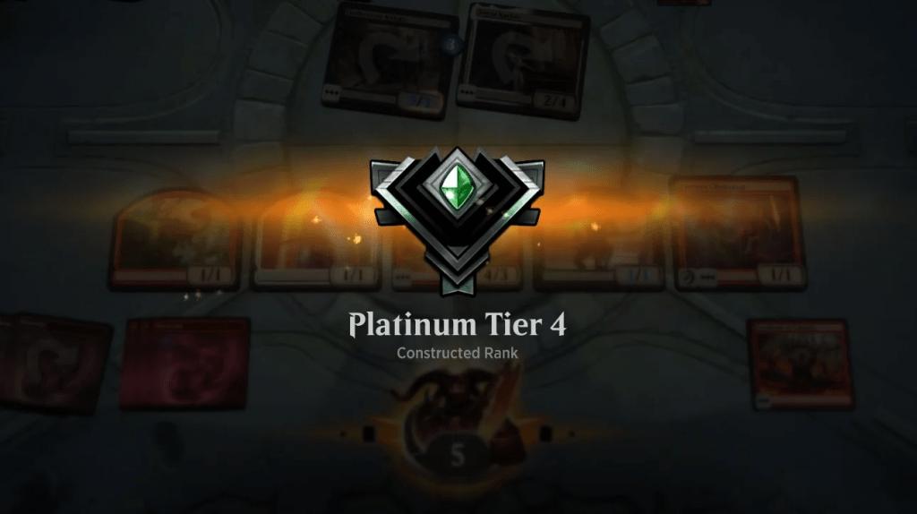 MTGA Platinum Tier 4 rank