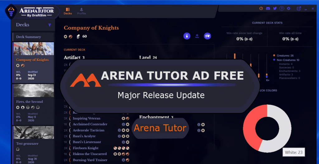 Arena Tutor Ad Free Major Release Update