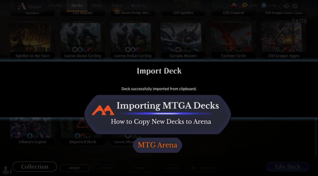 MTG Arena import decks featured image