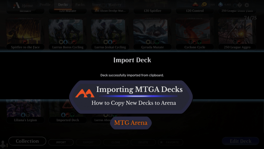 How to Import a Deck in MTG Arena