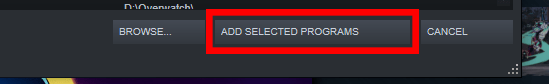 "Steam ""Add Select Programs"" option"