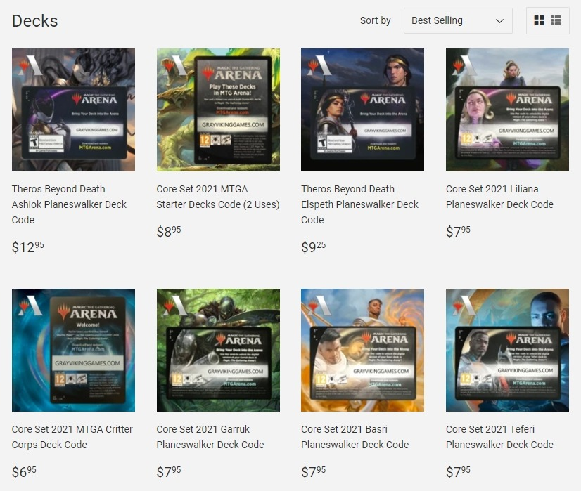 Decks for sale on Gray Viking Games