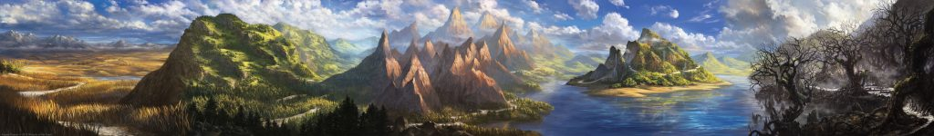C19 land panorama - Illustrations by Alayna Danner