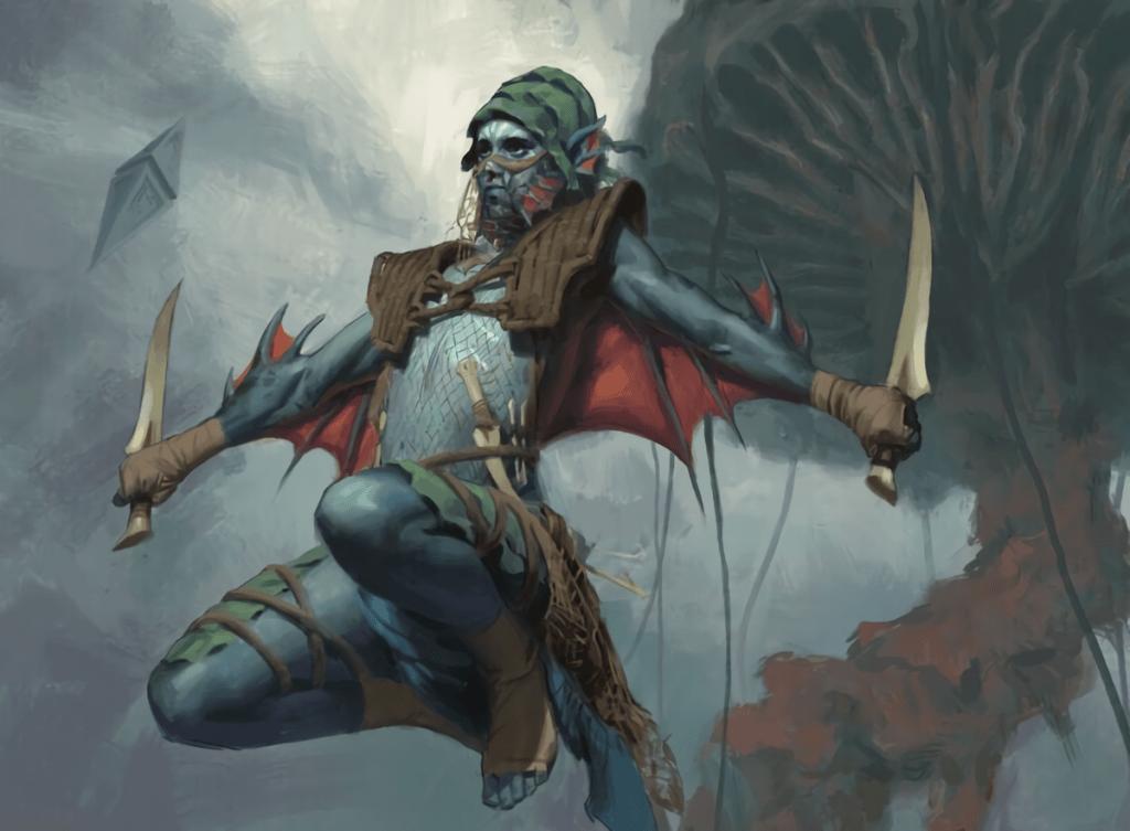 Merfolk Windrobber - Illustration by Colin Boyer