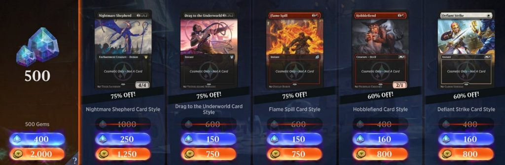 MTG Arena gems daily deal