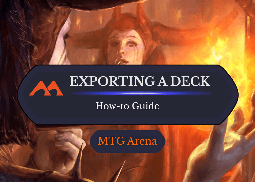 How to Export a Deck from MTG Arena