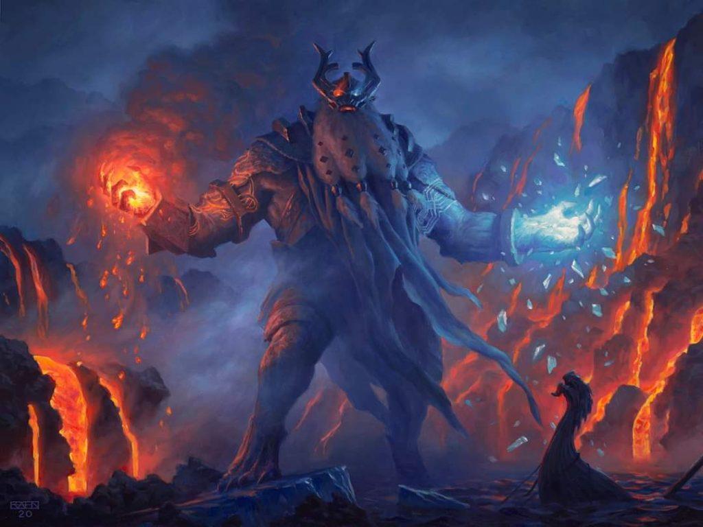 Aegar, the Freezing Flame - Illustration by Chris Rahn