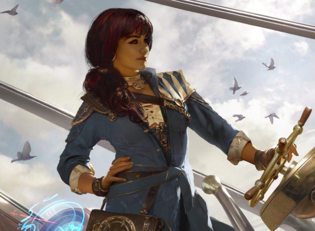 Jhoira, Weatherlight Captain - Illustration by Brad Rigney
