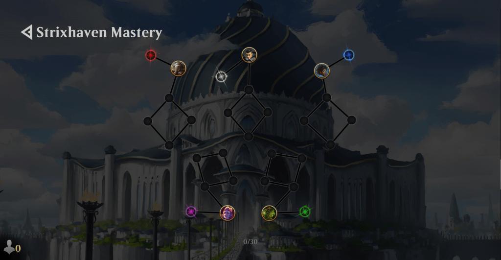 MTG Arena Strixhaven Mastery Tree