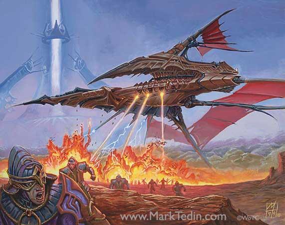Predator, Flagship - Illustration by Mark Tedin