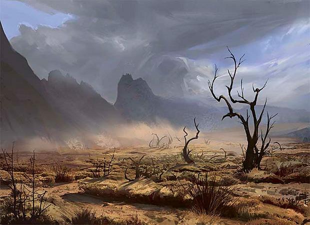 Scrubland - Illustration by Eytan Zana
