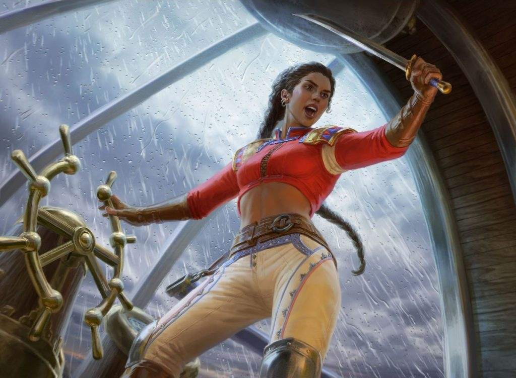 Sisay, Weatherlight Captain - Illustration by Anna Steinbauer