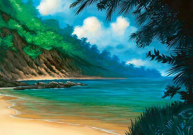 Tropical Island - Illustration by Franz Vohwinkel