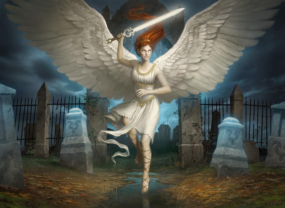 Angel of Finality - Illustration by Howard Lyon