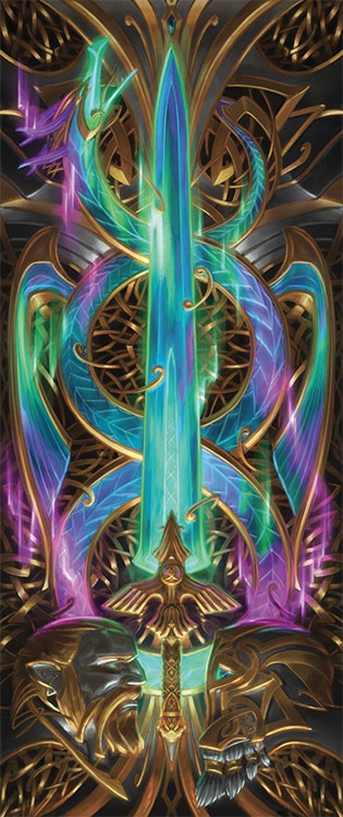 Forging the Tyrite Sword - Illustration by Kieran Yanner