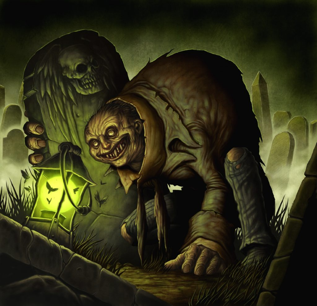 Grave Scrabbler - Illustration by Dave Allsop