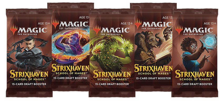 Strixhaven draft booster packs