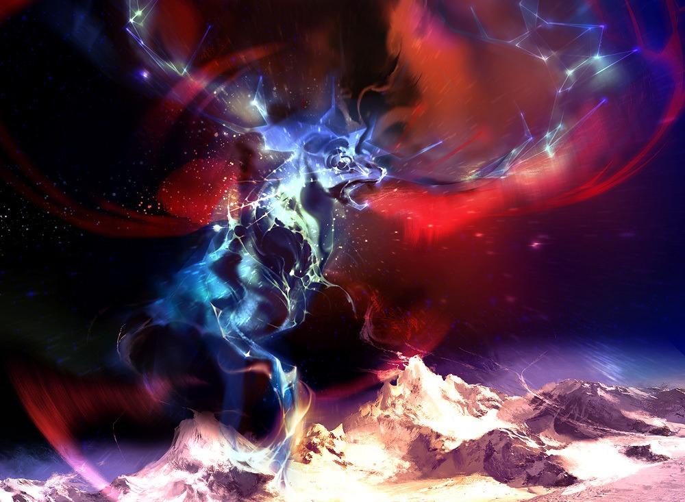 Celestial Force - Illustration by Véronique Meignaud