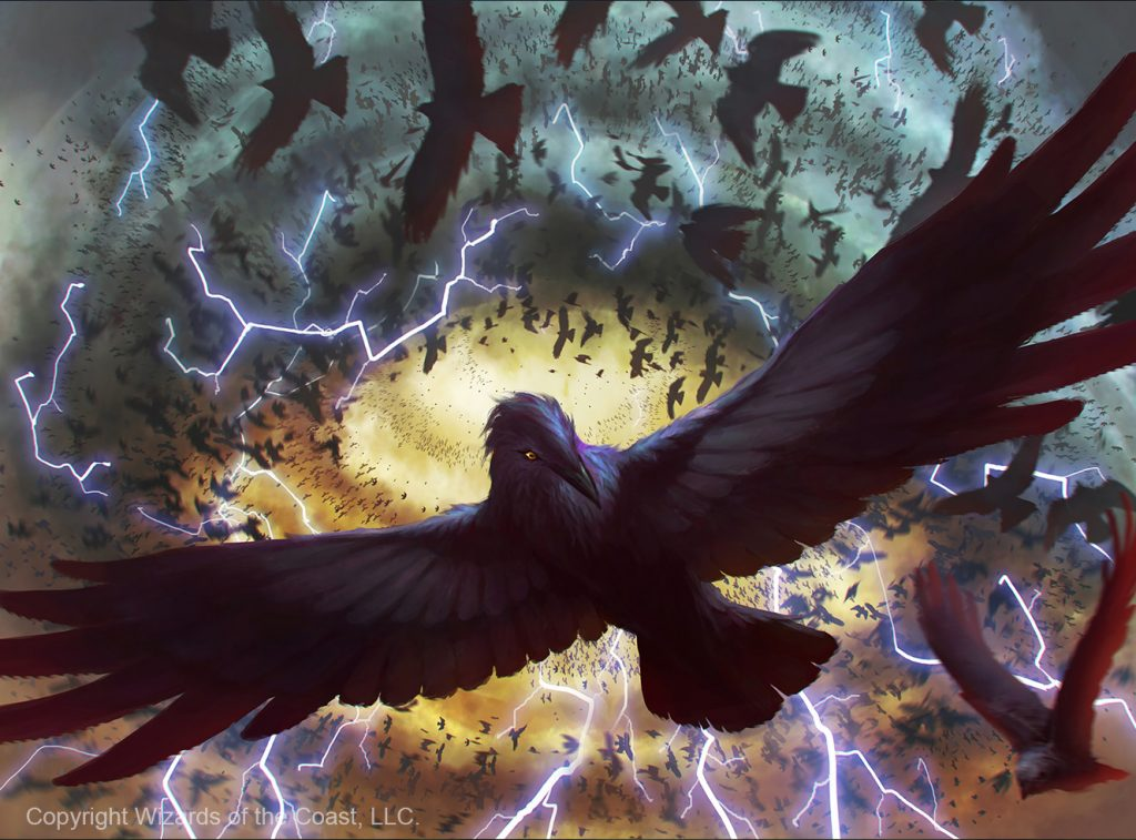 Crow Storm - Illustration by YW Tang