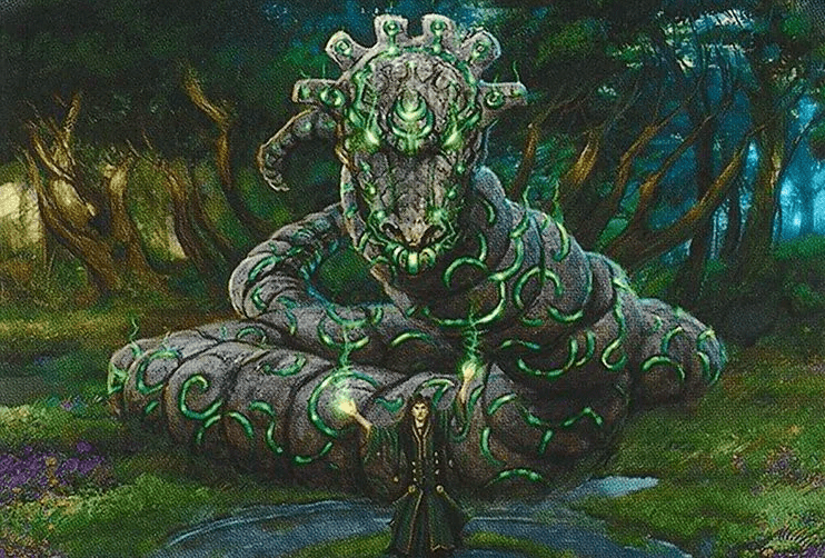 Stonecoil Serpent - Illustration by Mark Poole
