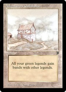 Adventurers' Guildhouse, a terrible Magic card