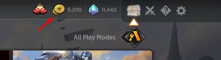 Gold count in MTG Arena